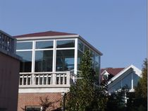 Sealed patio doors and windows sun room design laminated tempered glass sun room roof Villa arc sun room
