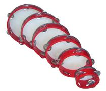 Ulf musical instrument six inch red tambourine (other size subscript)