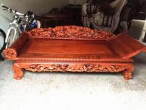 Burmese pear wood lotus flower concubine bed Rosewood Royal concubine bed lotus flower concubine bed chaise longue couch large fruit Rosewood bed