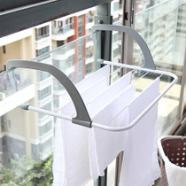 Balcony drying rack drying rack pillow rack hanger hook drying rack drying rack folding shoe rack towel rack