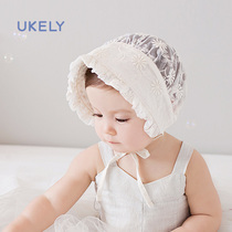 Baby hat summer sunscreen baby sun hat female Korean princess moon tide mesh newborn thin section of the cap