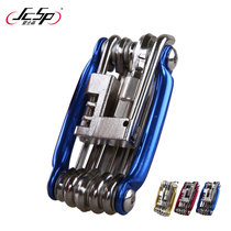 High quality 11-in-1 multi-functional combination Mountain Bike Repair Tool T25 disc brake wrench chain tool