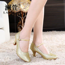 Ms. LAN Xuan Modern dance shoes adult womens Dance shoes highlights Golden Square dance GB soft Bottom dance Shoes