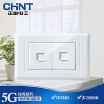 CHiNT switch socket panel 118 Type NEW5G series telephone computer combination socket
