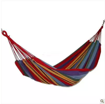 Outdoor hammock canvas swing thicken multi-functional leisure plus wide load-bearing single double