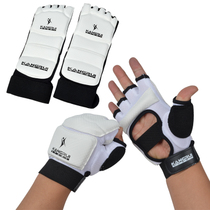Kang Rui taekwondo gloves protective cover half finger fist fight sandbag sandbag hand and foot protection combination breathable special