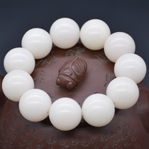 Seeking rhyme selection white jade Bodhi root hand string high density along the white beads bracelet male and female Bodhi Child Buddha beads bracelets