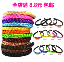 Super Beautiful with toothed hemp braid wig Hair Hoop Headwear Card Hair multi-color hair trim Hoop hair Hoop