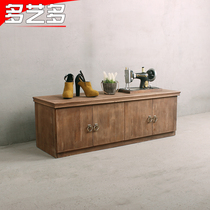 Multi-art clothing store display Taiwan clothing store decoration cabinet solid wood bag display Taiwan retro container Taiwan