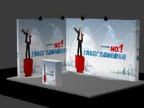 (3*4 standard booth exhibition hall layout)dongxinla Network 3*3g1 exhibition background wall
