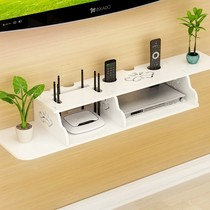 Decoration below the shelf wall below the wall TV bedroom set-top box storage cabinet free punch
