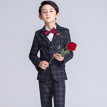 Children's suit boy Suit Suit small host dress flower girl costume piano performance wedding three-piece suit