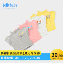Female baby short-sleeved T-shirt foreign style strapless 3 years old 1 baby bottoming shirt children Summer 6 girls shirt summer thin section