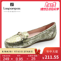 Laspampas Les pace 2019 new counters authentic first layer of leather low-heeled loafers