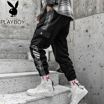 Playboy Plus pile foot craft pants mens Tide brand autumn and winter 2019 new leisure Korean trend