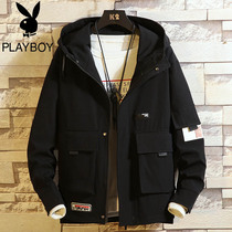 Playboy men's jacket spring and autumn models 2019 youth Korean version of the trend of tooling outer clothing casual loose handsome