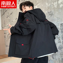 Mens jacket Jacket function wind spring and autumn 2019 new Korean version of the trend ins tooling on the clothes men Winter F