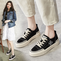 Black canvas shoes children 2019 tide shoes new autumn shoes Korean students Joker autumn ulzzang board shoes ins