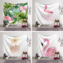 Girl heart ins Nordic bedroom wall cosmos tapestry tapestry wall cloth dormitory decoration painting Flamingo back