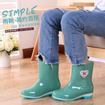 Spring and summer adult rain boots ladies fall water shoes sets of shoes short tube rubber shoes waterproof tube boots women fashion boots women