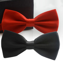 Children's accessories double bow tie student performance bow tie men and women banquet red black bow