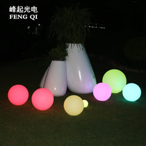 led luminous ball solar charging garden landscape lights garden lawn ball outdoor floor decoration ball