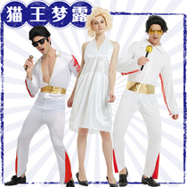 Halloween Costumecos Marilyn Monroe Costume Elvis CostumeS SkirtWig Big Wave Show Costumes