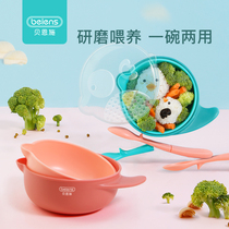 Bain Shi baby food bowl baby Bowl childrens Bowl anti-drop anti-hot household tableware childrens bowl spoon set