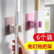 Bathroom bathroom load-bearing god hook hanging waterproof wall hanging mop cute personality suction wall hook