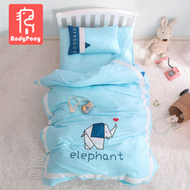 A class embroidery cotton kindergarten quilt three sets of children into the garden bedding baby nap bedding six sets