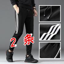 Pants mens 2019 new spring and autumn loose casual sports trousers Korean trend knit pants Junior High School students
