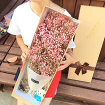 Gypsophila dried flowers mix and match graduation bouquet on the catty sell wholesale real flower eternal flower Christmas gift Super gift box