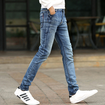 2019 autumn new jeans mens stretch slim foot pants retro Korean trend casual pants