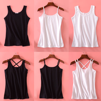 Black and white camisole female short paragraph summer ride sexy cotton conventional outer wear base wild small fresh jacket