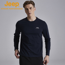 jeep flagship store official authentic Jeep male outside wear long-sleeved T-shirt cotton autumn clothes loose black shirt