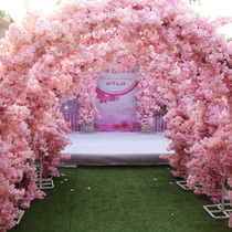 Simulation cherry branches wedding decoration living room indoor and outdoor plastic fake flowers plum blossom peach branches hotel decoration