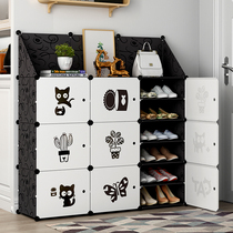 Simple shoe cabinet Home door large capacity dust storage artifact small shoe rack multi-storey economy indoor good-looking