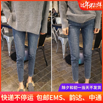 Jeans 2020 new spring and autumn season retro blue slim thin high waist wild black nine small foot pants