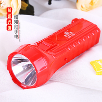 Red flashlight wedding wedding supplies a pair of lighting LED light charging womens wedding must-have
