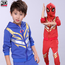 2019 new autumn boy clothing children Boy Ultraman clothes spring and autumn Spider-Man cotton sports suit