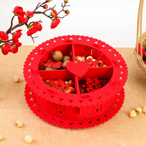 Flower wedding wedding wedding supplies creative non-woven Chinese candy plate fruit plate wedding Red Hi plate