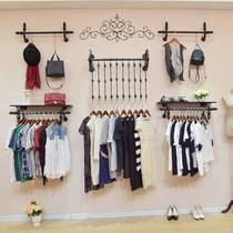 Womens clothing store hangers display racks indoor hangers wall wall-mounted durable jewelry wall clothing store hanging