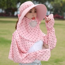 Facial sunscreen sun visor summer multi-functional new fishing face Lady Rider windproof dust neck