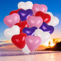 Love balloon wholesale decoration wedding childrens birthday wedding heart-shaped wedding balloon wedding room layout supplies balloons