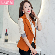 2019 new summer vest female Korean slim waistcoat collar short paragraph vest waist vest jacket