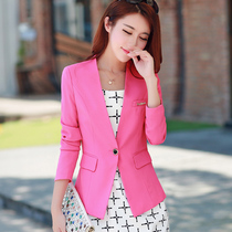 2019 spring new slim ladies small suit long-sleeved casual ol temperament Korean small suit jacket short tide