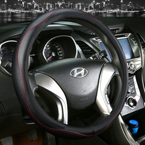 Leather steering wheel cover car handle modern long moving collar Yue moving the name of the name of the figure Rena Hyatt ix35ix25