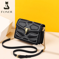 Gold Fox leather bag handbags new 2019 fashion texture chain shoulder autumn and winter popular ladies messenger bag