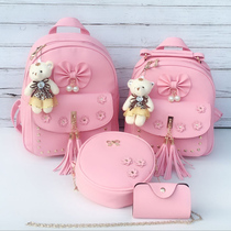 Childrens backpack doubles shoulder bag fashion cute princess Kindergarten bag girl 3-5-6 pupils tourist tide