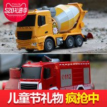 Remote control construction Car Car Toy Set charging excavator truck oversized boy children toy model